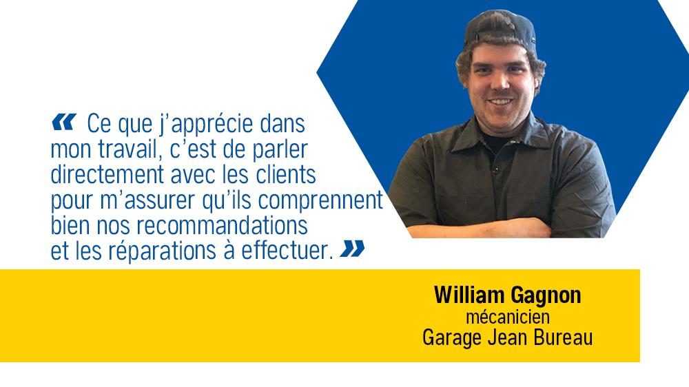 C'EST VRAI qu'on apprécie nos employés… William Gagnon, mécanicien